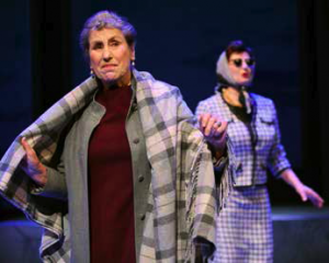 Sylvi och Anita från scen