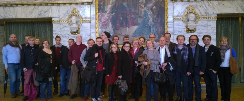 Finlands teaterchefer på besök i Hallunda